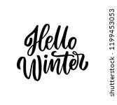 hello winter hand drawn... | Shutterstock .eps vector #1199453053