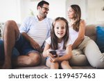 happy family having fun time at ...   Shutterstock . vector #1199457463