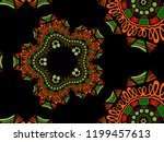 a hand drawing pattern made of... | Shutterstock . vector #1199457613