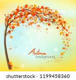 autumn background with colorful ... | Shutterstock .eps vector #1199458360