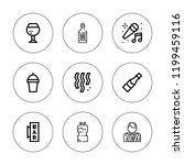 champagne icon set. collection... | Shutterstock .eps vector #1199459116