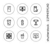 portable icon set. collection... | Shutterstock .eps vector #1199459140