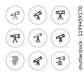 scope icon set. collection of 9 ... | Shutterstock .eps vector #1199459170