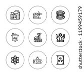 nuclear icon set. collection of ... | Shutterstock .eps vector #1199459179