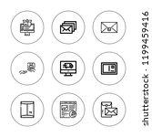 postal icon set. collection of... | Shutterstock .eps vector #1199459416