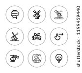 rotate icon set. collection of... | Shutterstock .eps vector #1199459440