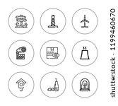 environment icon set.... | Shutterstock .eps vector #1199460670