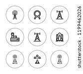 radar icon set. collection of 9 ... | Shutterstock .eps vector #1199462026