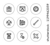 measurement icon set.... | Shutterstock .eps vector #1199462059