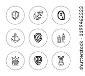 insignia icon set. collection... | Shutterstock .eps vector #1199462323
