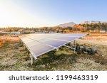 solar power panels ... | Shutterstock . vector #1199463319