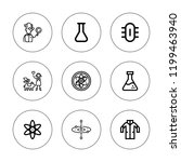 atom icon set. collection of 9... | Shutterstock .eps vector #1199463940