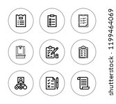 questionnaire icon set.... | Shutterstock .eps vector #1199464069