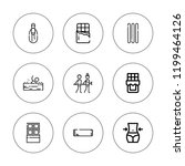 calorie icon set. collection of ... | Shutterstock .eps vector #1199464126