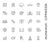 set of seo technology system... | Shutterstock .eps vector #1199465206