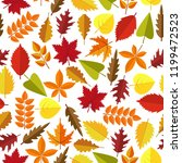 colorful autumn leaves seamless ... | Shutterstock .eps vector #1199472523