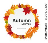 circle banner with autumn... | Shutterstock .eps vector #1199472529