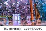 singapore changi airport ... | Shutterstock . vector #1199473060