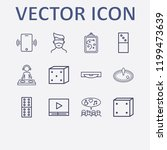 outline 12 play icon set....   Shutterstock .eps vector #1199473639