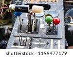 dashboard on the old plane... | Shutterstock . vector #1199477179