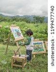 children drawing natural... | Shutterstock . vector #1199477740