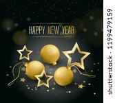 happy new year greeting card.... | Shutterstock .eps vector #1199479159