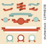 set of retro ribbons and labels.... | Shutterstock .eps vector #119948158