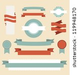 set of retro ribbons and labels.... | Shutterstock .eps vector #119948170