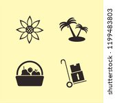 sunny icon. sunny vector icons... | Shutterstock .eps vector #1199483803