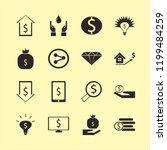wealth icon. wealth vector... | Shutterstock .eps vector #1199484259