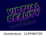 modern font  virtual reality ... | Shutterstock .eps vector #1199484739