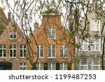 beautiful european houses in... | Shutterstock . vector #1199487253
