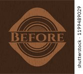 before badge with wooden... | Shutterstock .eps vector #1199489029