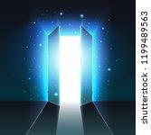 mystical light from the open... | Shutterstock .eps vector #1199489563