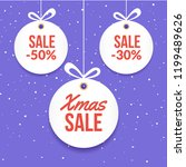 christmas ball tag special... | Shutterstock .eps vector #1199489626