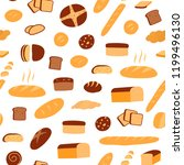 vector seamless pattern of... | Shutterstock .eps vector #1199496130