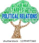 political relations word cloud...   Shutterstock .eps vector #1199497360