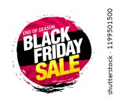 black friday sale banner layout ... | Shutterstock .eps vector #1199501500