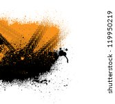 black and orange silhouette of...   Shutterstock .eps vector #119950219