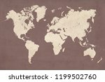 high detailed vintage style map ... | Shutterstock . vector #1199502760