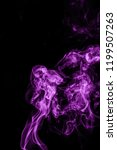 smoke abstract on a black... | Shutterstock . vector #1199507263