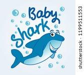 baby shark   t shirts  hoodie ... | Shutterstock .eps vector #1199511553