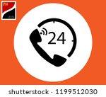 icon handset number twenty four ... | Shutterstock .eps vector #1199512030