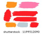 collection of hand drawn... | Shutterstock .eps vector #1199512090