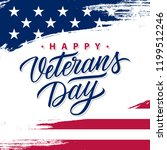 usa veterans day greeting card... | Shutterstock .eps vector #1199512246