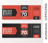 black friday banner sale with... | Shutterstock .eps vector #1199515960