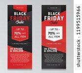 black friday x banner black red | Shutterstock .eps vector #1199515966