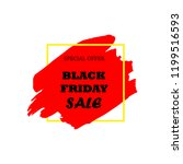 black friday sale poster with... | Shutterstock .eps vector #1199516593