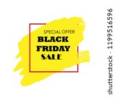 black friday sale poster with... | Shutterstock .eps vector #1199516596