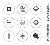 climate icon set. collection of ... | Shutterstock .eps vector #1199516869